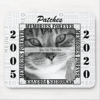 Vertical Year Cat Pet Memorial Mouse Pad