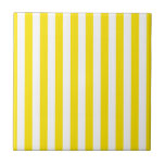 "Vertical Yellow Stripes Ceramic Tile<br><div class=""desc"">Be sure to check out all options to customize your selection!