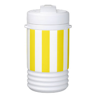 Vertical Yellow Stripes Cooler