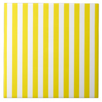 Vertical Yellow Stripes Tile