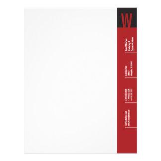 Verticality Crimson Monogram Letterhead