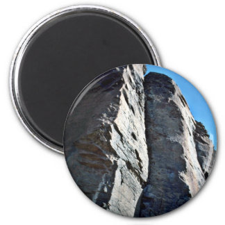 Vertically Seamed And Fractured Rocks Magnets