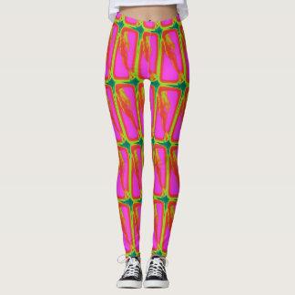 verticle blonde mermaids pink leggings