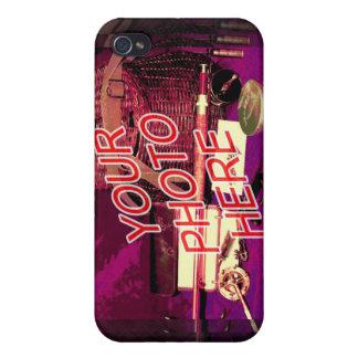 Verticle de la plantilla del espejo de la barbería iPhone 4/4S fundas