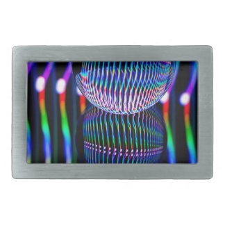 Verticle in the glass ball rectangular belt buckle