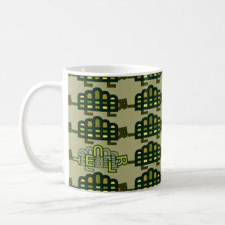 Vertido con la taza de las tortugas