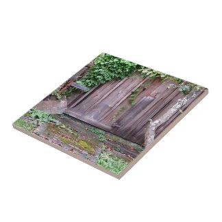 Vertiente Overgrown Azulejo Cuadrado Pequeño