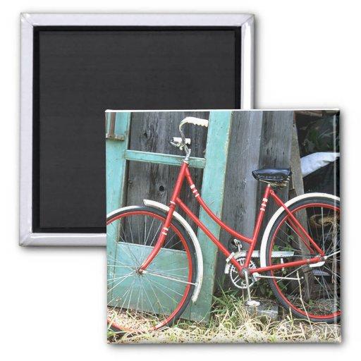 Vertiente vieja de ciclo que monta en bicicleta de imán de frigorifico