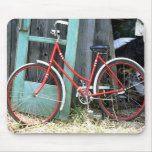 Vertiente vieja de ciclo que monta en bicicleta de alfombrilla de raton