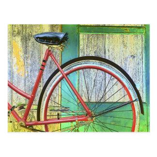 Vertiente vieja de ciclo que monta en bicicleta postales