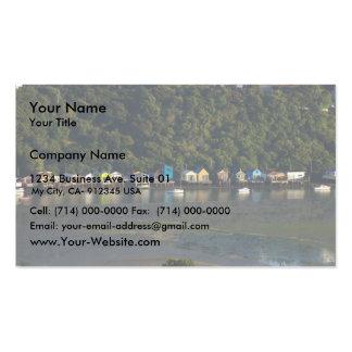 Vertientes del barco en luz de la madrugada tarjetas de visita