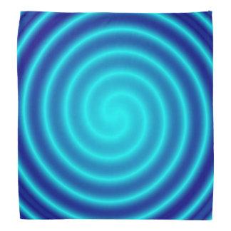 Vértigo azul que tuerce en espiral bandana