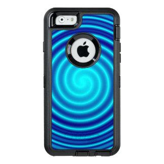 Vértigo azul que tuerce en espiral funda otterbox para iPhone 6/6s
