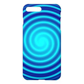 Vértigo azul que tuerce en espiral funda para iPhone 7 plus