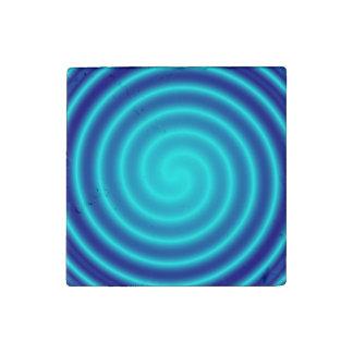 Vértigo azul que tuerce en espiral imán de piedra