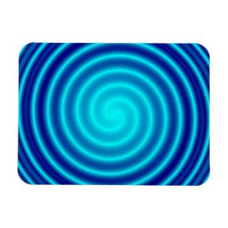 Vértigo azul que tuerce en espiral imanes