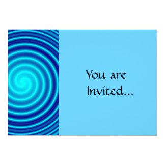 """Vértigo azul que tuerce en espiral invitación 5"""" x 7"""""""