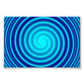 Vértigo azul que tuerce en espiral cojinete