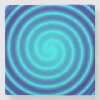 Vértigo azul que tuerce en espiral posavasos de piedra