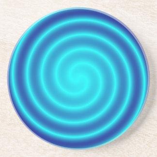 Vértigo azul que tuerce en espiral posavasos manualidades