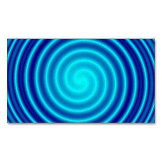 Vértigo azul que tuerce en espiral tarjetas de visita magnéticas (paquete de 25)