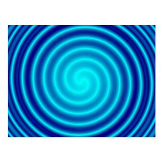 Vértigo azul que tuerce en espiral tarjeta postal