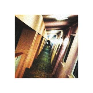 Vertigo Hallway Vanishing Point Gallery Wrap Canvas