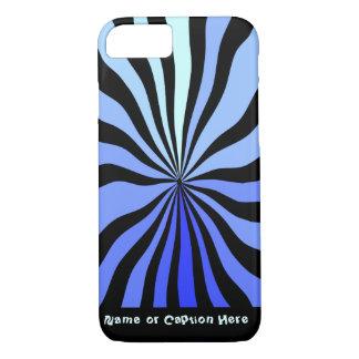 Vértigo - negro y azul - personalizado funda iPhone 7