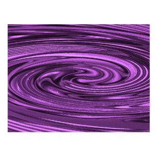 Vértigo (púrpura) tarjetas postales