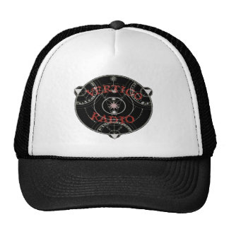 Vertigo Radio Live Circle Logo Red Trucker Hat