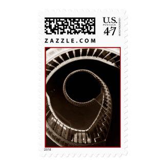 VERTIGO VORTEX HITCHCOCKESQUE Stamp SPIRAL STAIRS