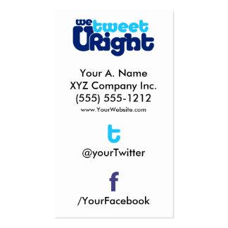 vertTWFB social de WTURite 2 0 de la tarjeta de vi