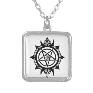 Verum Quaerere Square Pendant Necklace