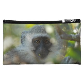 Vervet Monkey Accessory Bag 8x5