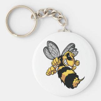 Very Angry Bee Keychain