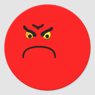Very Angry Smiley Sticker