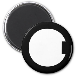 VERY ARTY C MONOGRAM BLACK 2 INCH ROUND MAGNET