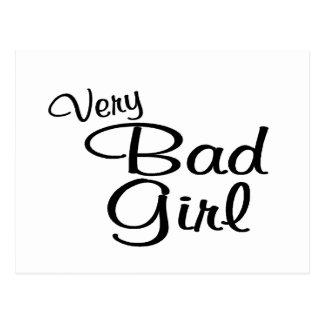 Very Bad Girl Postcard