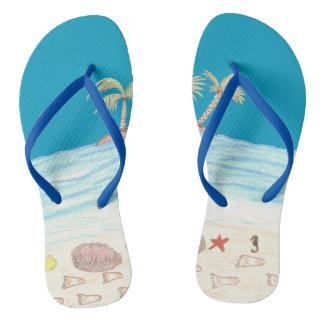 Very beachy flip flops