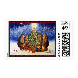 Very Beary Christmas Hollyberry Park Bears Violano Postage