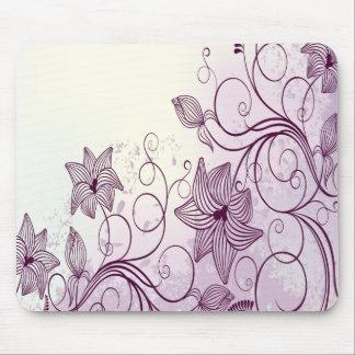 Very Beautiful Purple Flowers Mouse Pad
