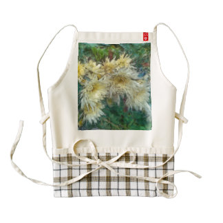 Very beautiful small yellow flowers zazzle HEART apron