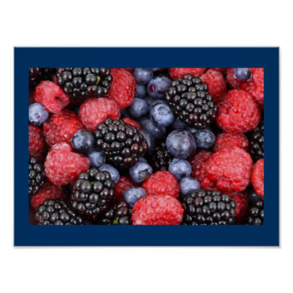 Very Berry Kitchen Poster