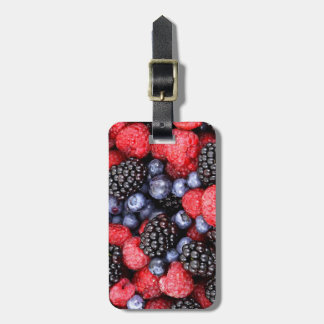 Very Berry Lover Blueberry Strawberry Blackberry Luggage Tags