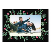 Very Berry Merry Christmas Watercolor   Christmas Card
