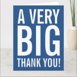 """Very big oversized Thank You greeting cards<br><div class=""""desc"""">Very big oversized Thank You greeting cards. Enormous oversize card for thanking friends, family, coach, mom, dad, teacher, nurse, boss, employee etc. XL Extra Large design with modern big letter typography and bright color in the background. Customizable thanks message and background color. ie blue. Also nice for wedding, bridal shower...</div>"""