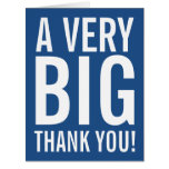 Very Big Oversized Thank You Greeting Cards at Zazzle