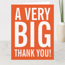 Very big oversized Thank You greeting cards