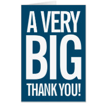 Very Big Thank You Large Greeting Card