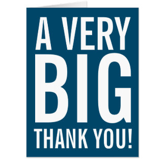Very Big Thank You Oversized Greeting Card